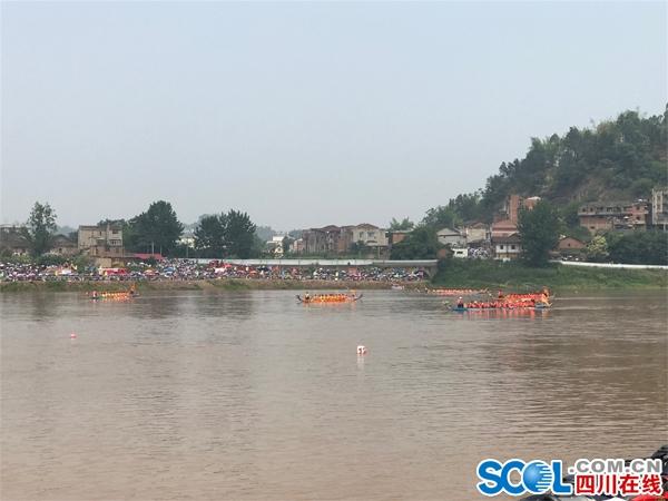 赛龙舟、品美食、赏古镇 自贡大安举办首届龙舟美食节